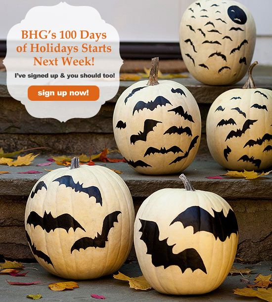 outdoor halloween decorating with pumpkins give your pumpkins the perfect halloween touch with bats made from black paper or paint