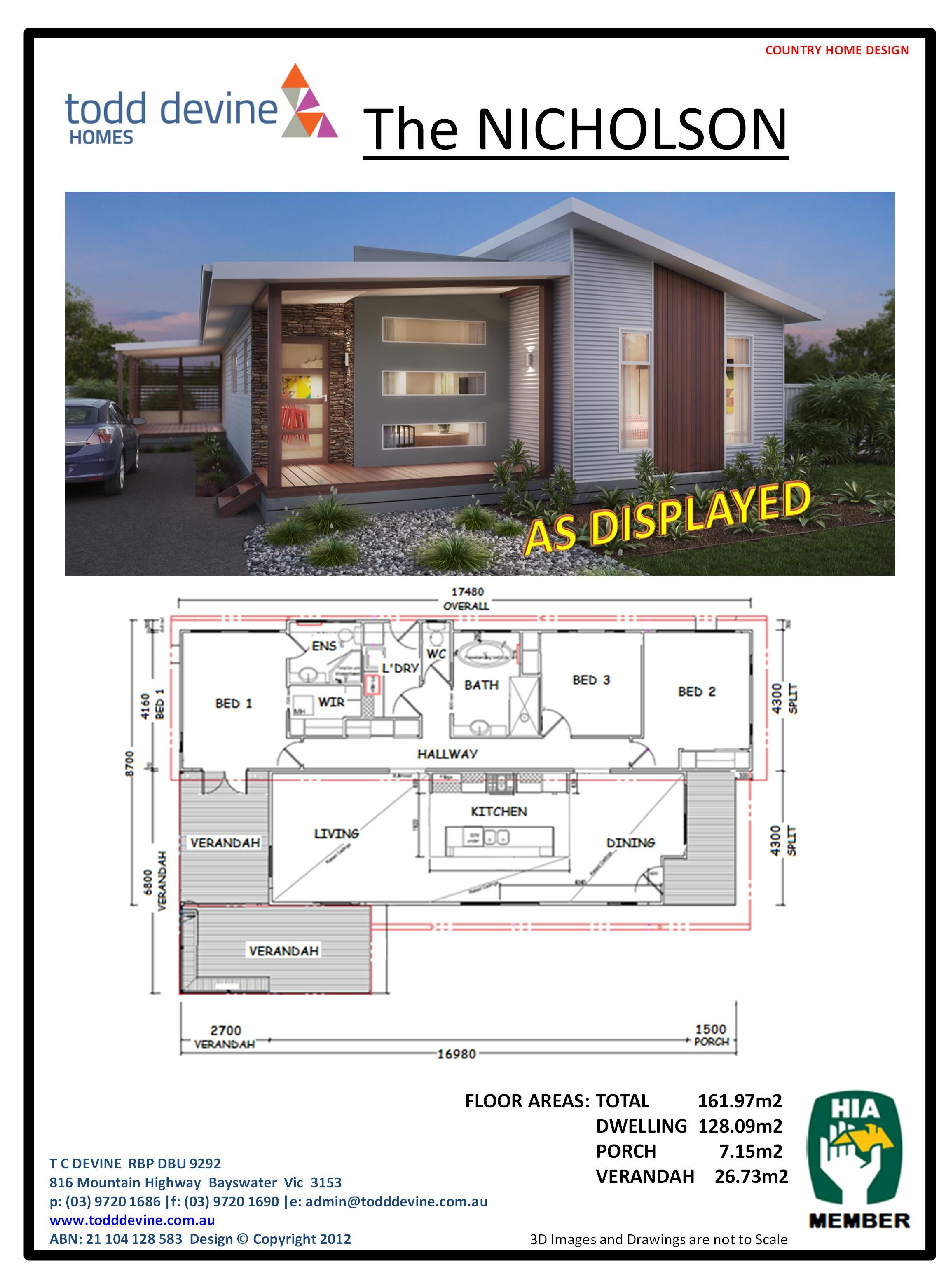 Todd Devine Homes | The Nicholson | New Home & Holiday Home Designs ...