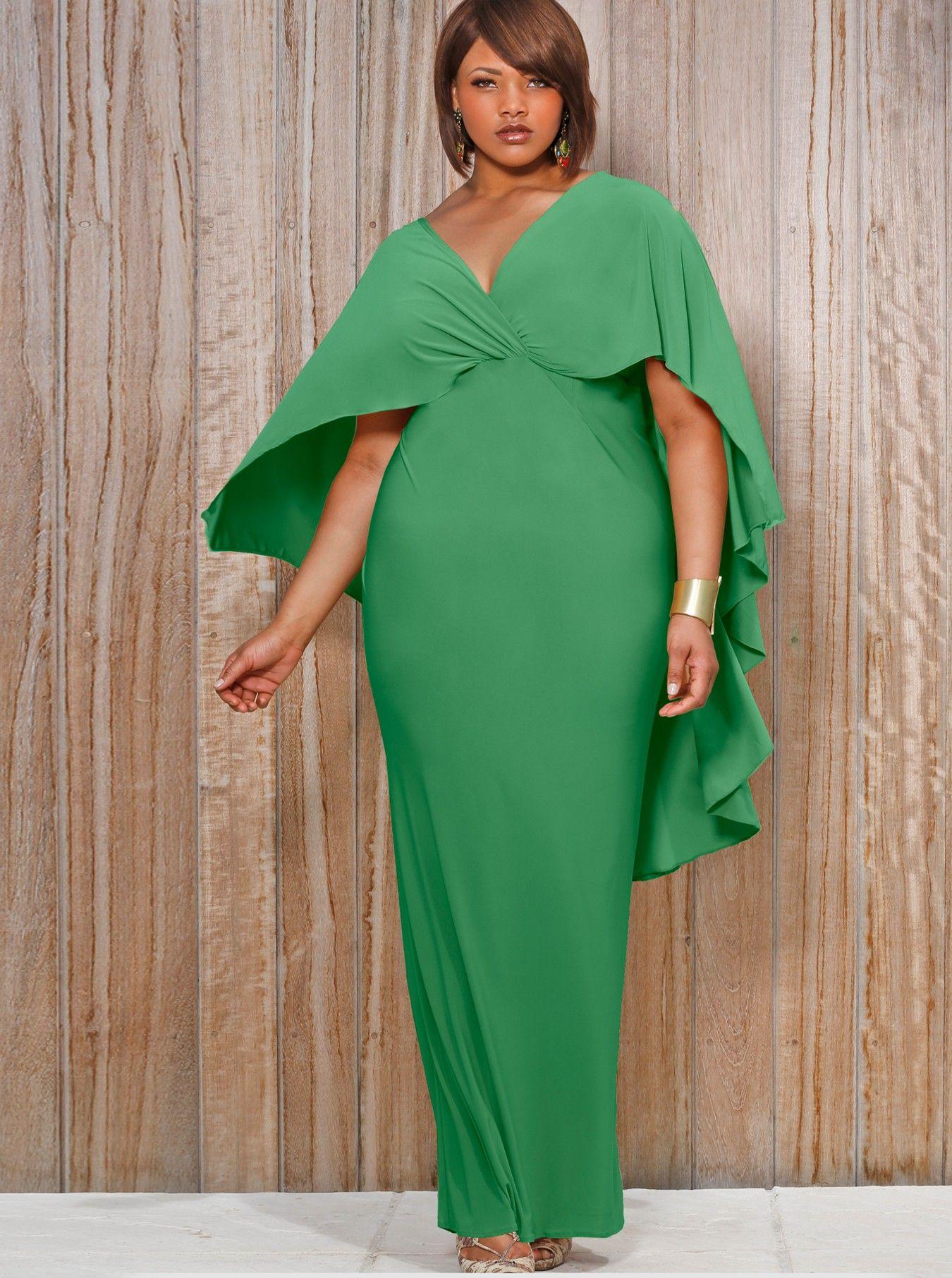 A beautiful plus size dress. I am admiring the drape and ...