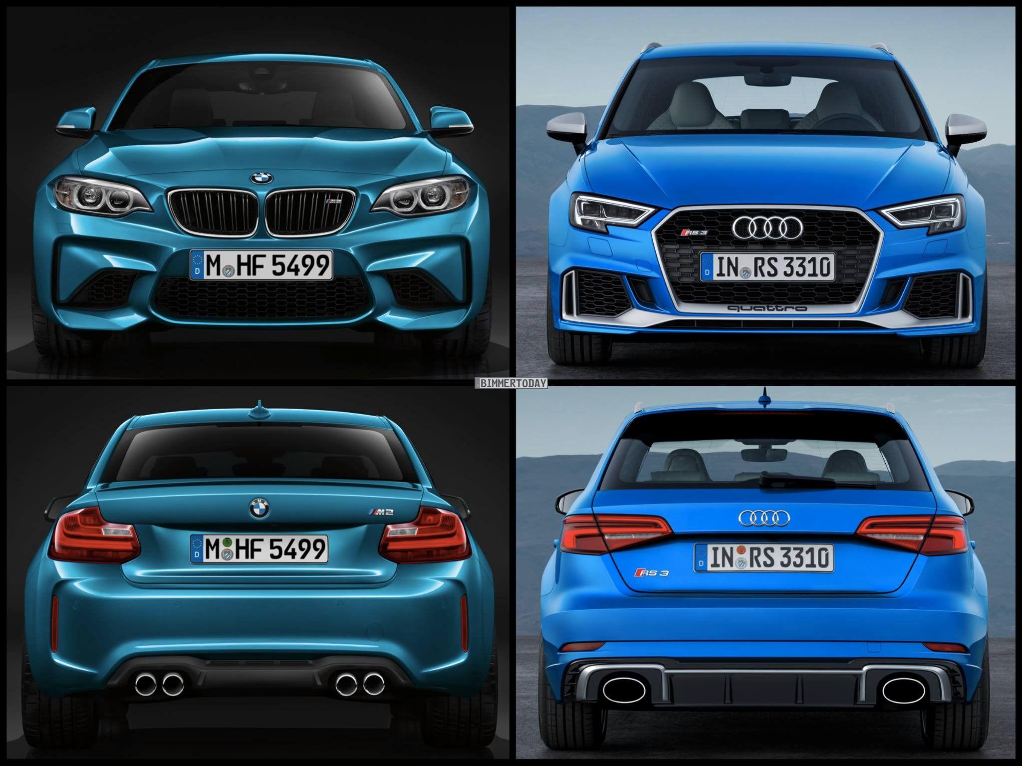 Photo Comparison Bmw M2 Vs Audi Rs3 Sportback Facelift Audi Rs3