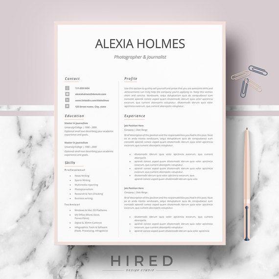 Minimalist Resume Template Resume Templates Modern Professional Resume Design Cv Template .