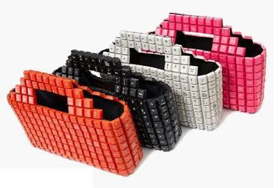 Keyboard handbags! Reciclagem, Jardinagem e Decoração
