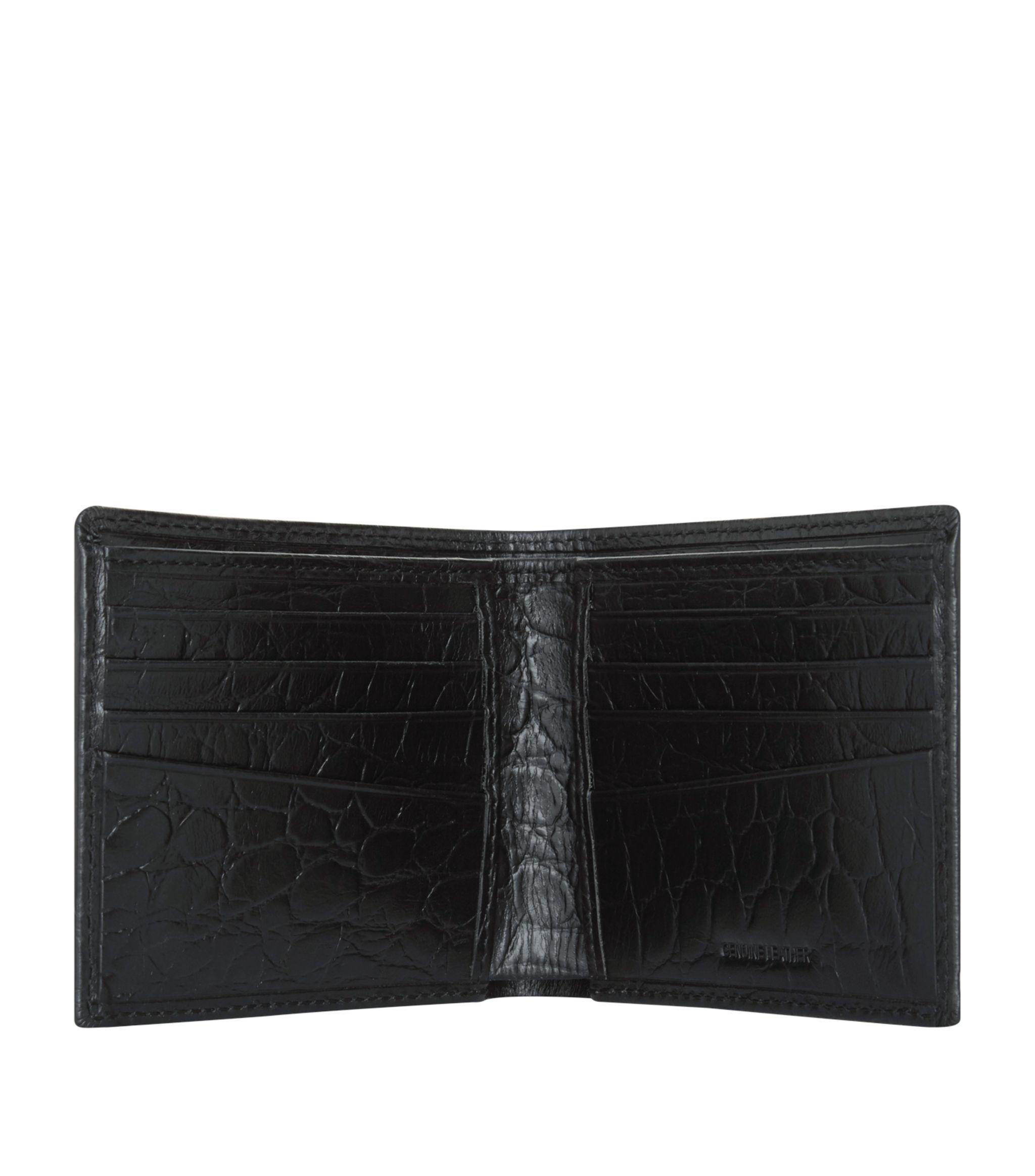 Harrods Black Crocodile Embossed Leather Bilfold Wallet Ad Sponsored Crocodile Black Harrods In 2020 Leather Bifold Wallet Bi Fold Wallet Embossed Leather