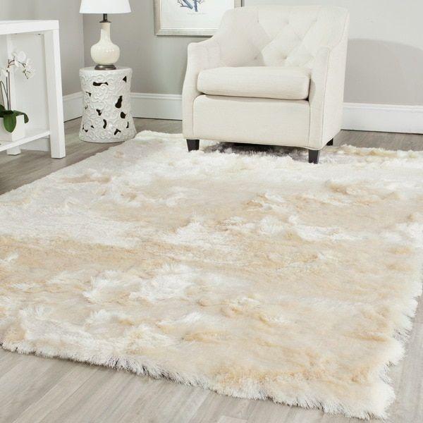 Safavieh Handmade Silken Glam Paris Shag Ivory Polyester Area Rug Rhpinterest: Fuzzy Area Rugs For Bedroom At Home Improvement Advice