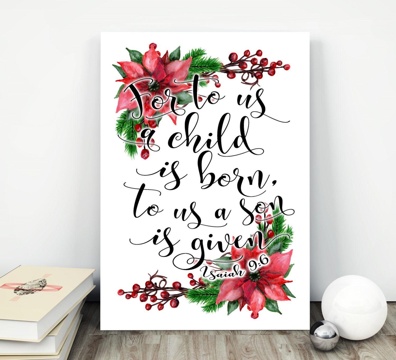 Christmas Tree In The Bible Scripture: Christmas Printable Quotes Christmas Wall Art Christmas