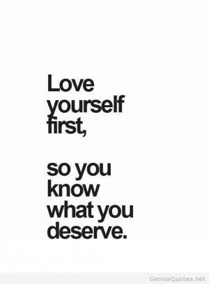 Love Yourself Quotes Tumblr Love Yourself First Quote Words