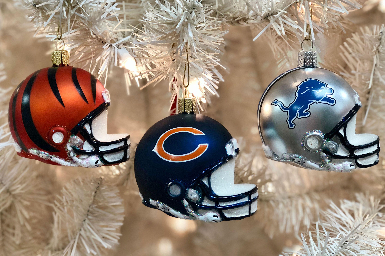 c70af686799 #nflfootball #helmets #football #superbowl53 #ornament #mondaynight # chicagobears #cincinattibengals #detroitlions #detroit #cincinatti #chicago  #christmas ...