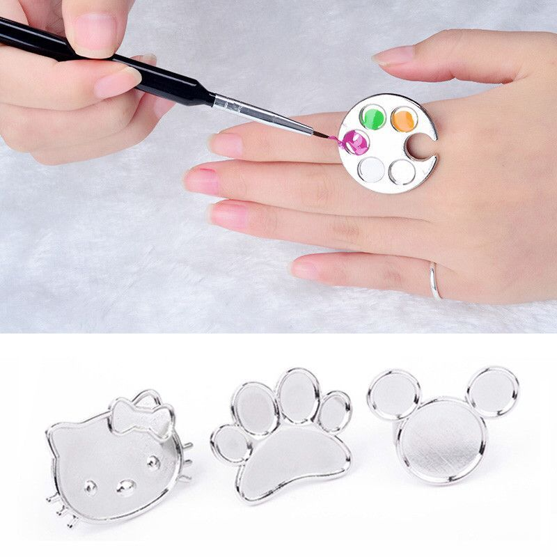 1pcs Sliver Polish Palette Cute Cat Cartoon Nail Tools New Manicure ...
