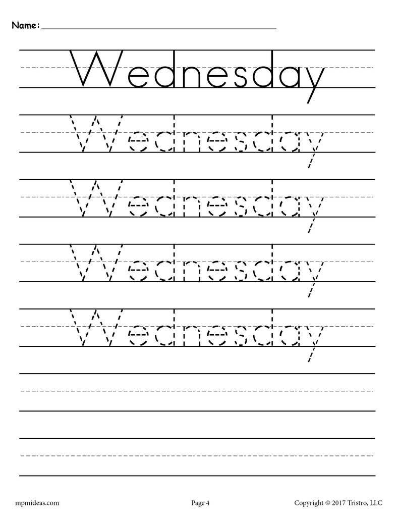 7 Free Days Of The Week Handwriting Worksheets Free Handwriting Worksheets Handwriting Analysis Handwriting Worksheets Handwriting name practice worksheets