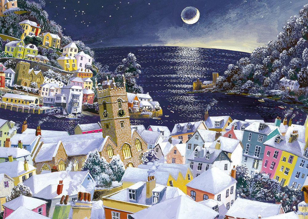 Gibson Christmas Moon - 1000pc Jigsaw Puzzle eBay Puzzles in