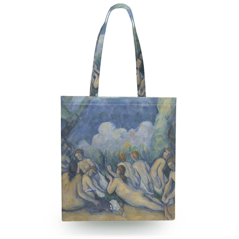 Cezanne Bathers Art Painting Canvas Tote Bag