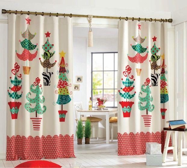 cortinas con motivos navideños Hoy LowCost Navidad Pinterest