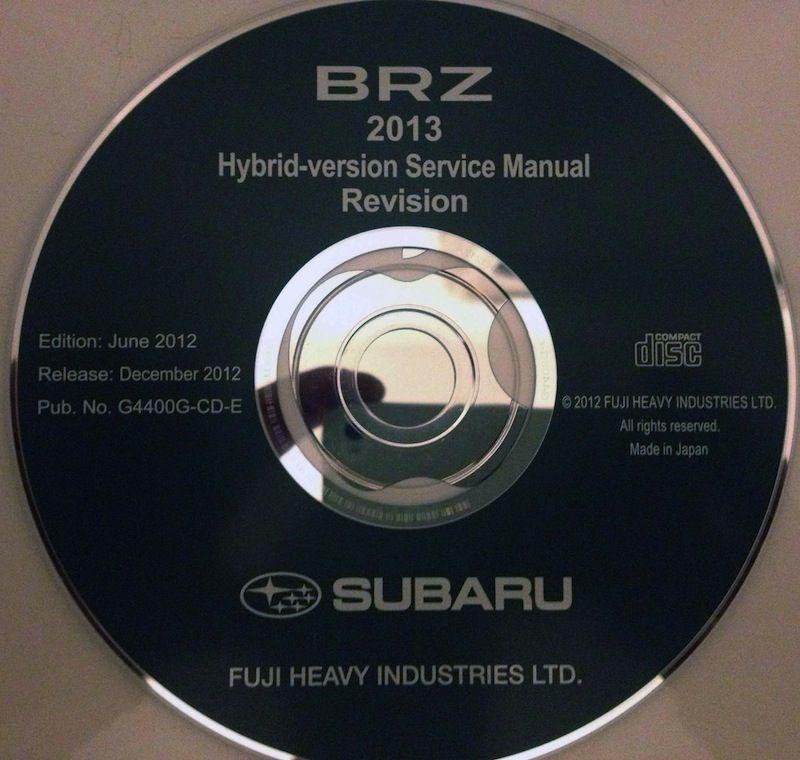 Brz Subaru 2013 Service Manual Full Download Scion Fr S Forum Subaru Brz Subaru Brz Subaru Toyota Gt86