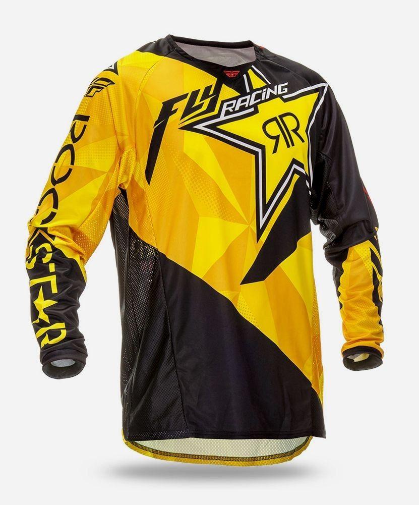 Download Fly Racing Kinetic Mesh Rockstar Mens Motocross Jerseys Motocross Motocross Gear Atv Motocross