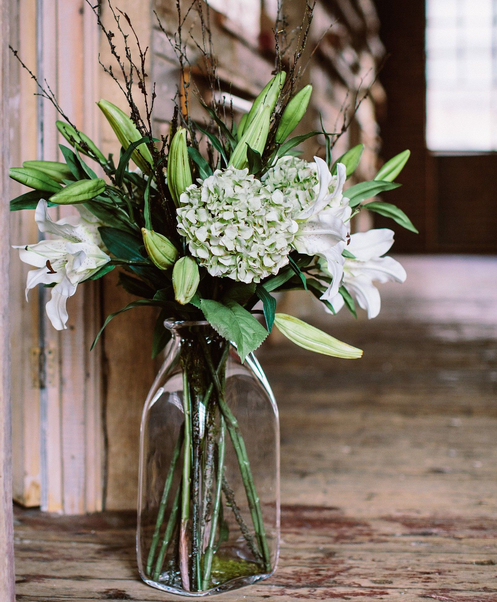Lily Twig Faux Flower Arrangement  The Olive Tree Shop