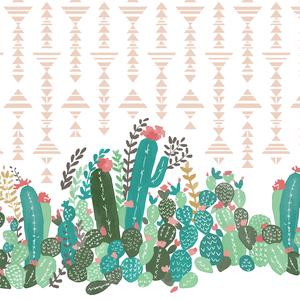 Hawthorne Threads Palm Springs Succulent Double Border