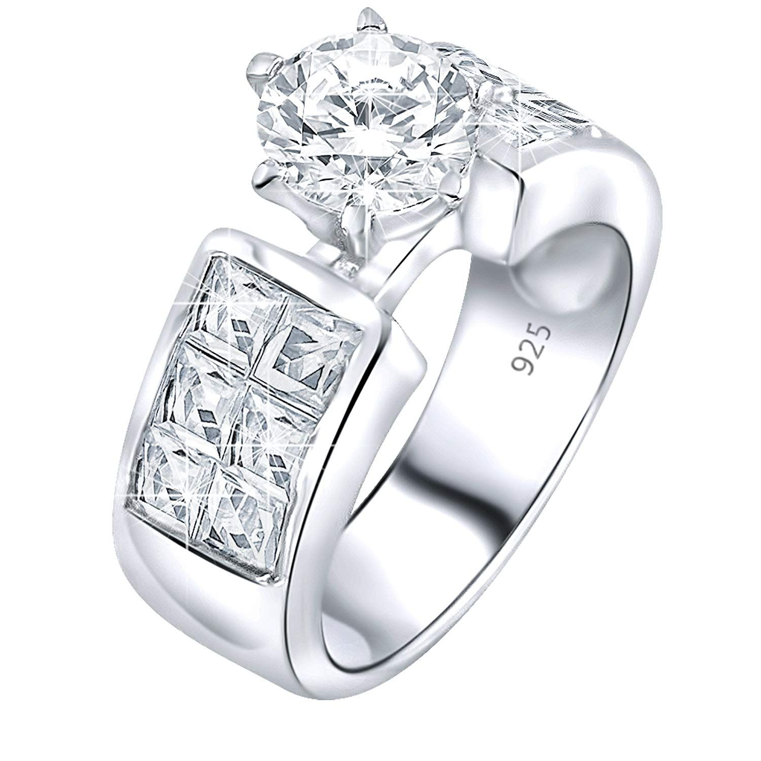 Women's Sterling Silver .925 Engagement Ring 1.13 Carat