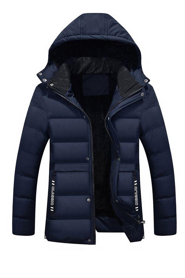 New Hot 2018 Winter Coat Men Black Puffer Jacket Warm Overcoat Parka Outwear Cotton Padded Hooded Down Coat | Wish