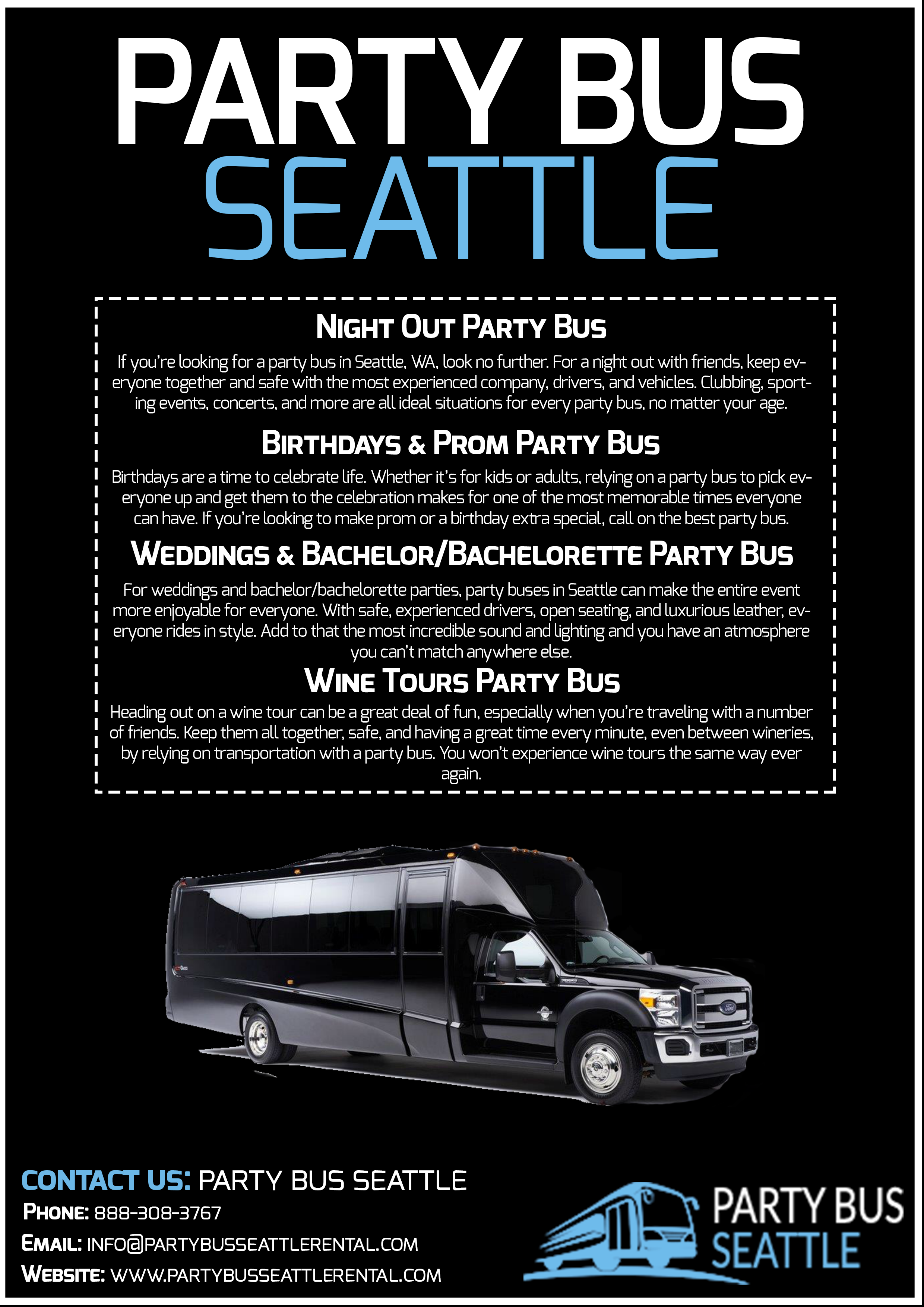 charter bus rental seattle We offer charter bus rental service in