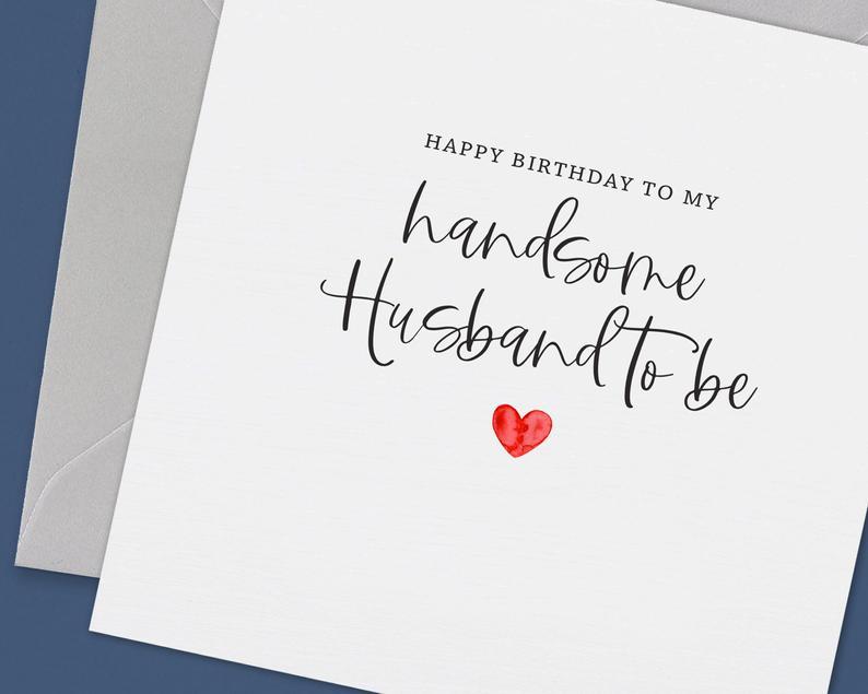 Fiance Birthday Card Birthday Card Fiance Husband To Be Etsy Happy Birthday Husband Cards Fiance Birthday Card Fiance Birthday