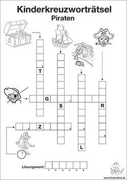 Kreuzwortratsel Fur Kinder Piraten Tiere Kreuzwortratsel Fur Kinder Wortratsel Fur Kinder Kinderratsel Zum Ausdrucken