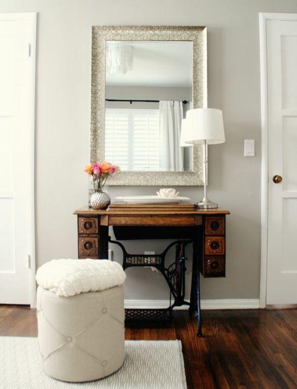 Alte Möbel neu gestalten - die alte Nähmaschine als Vintage Möbel ...