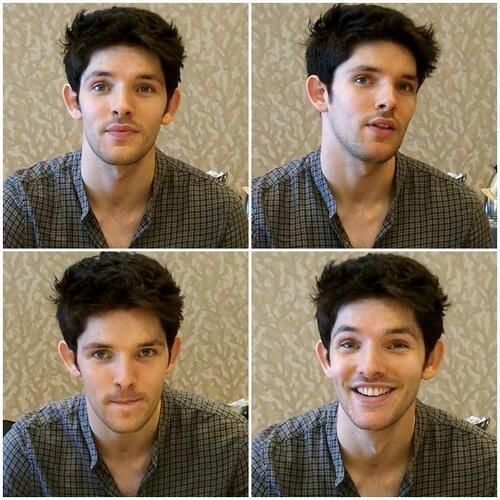His name?! MERLIN <-- could have sworn it was Colin. hahaha <-- Adorkable Cuteness works as well.