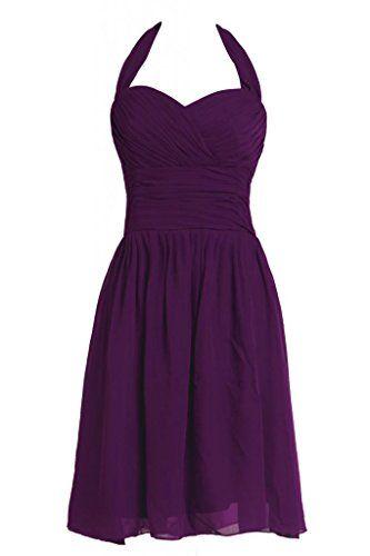 Ellames Halter Plus Size Bridesmaid Dress Short Prom Party Dresses