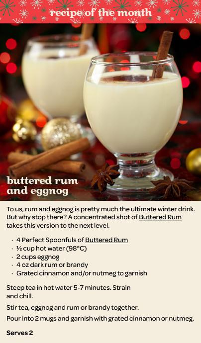 Buttered Rum Egg Nog Recipe From David S Tea I Figured U Can