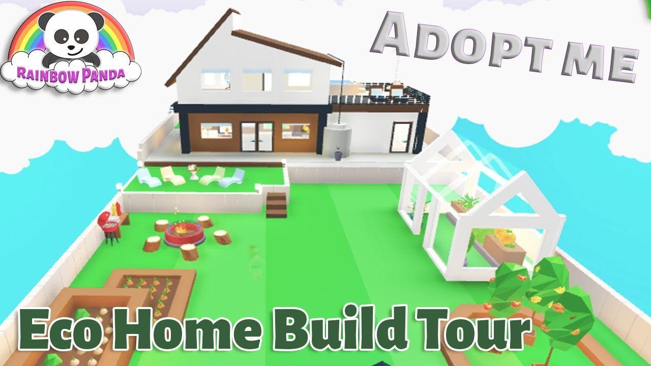 Adopt Me Builds I Eco Home And Garden Glitch Build Eco House Adoption House Decorating Ideas Apartments