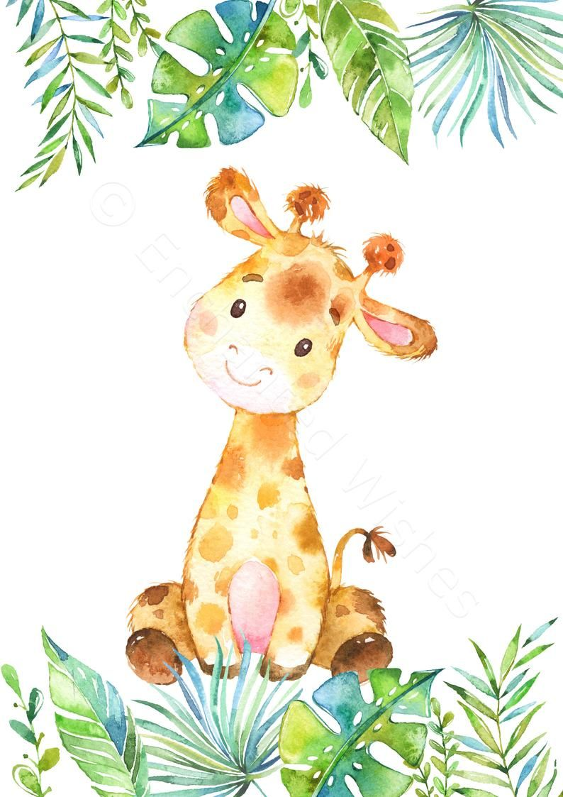 Set Of 4 Safari Animal Prints Jungle Animal Nursery Prints Etsy Safari Animal Wall Art Nursery Animal Prints Animal Wall Art Nursery