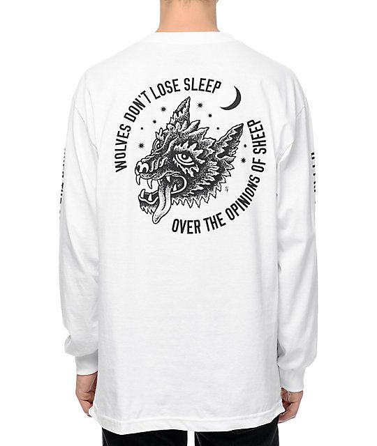 efd91310f Lift your street style above all the rest with the new Sketchy Tank  Opinions long sleeve t-shirt. Easily work the crisp white colorway into any  outfit to ...