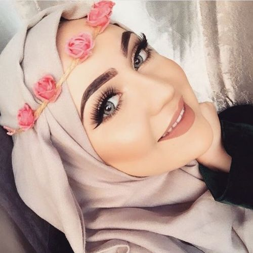 How to flower wear crown with hijab fotos