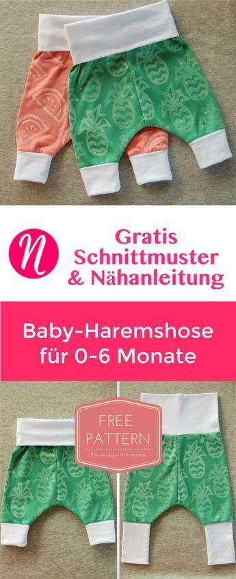Photo of Baby-Haremshose | Freebook für 0 – 6 Monate | Nähtalente