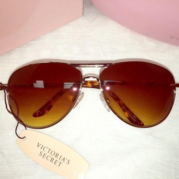 NWT Victoria's Secret Oversized Aviator Sunglasses Brand