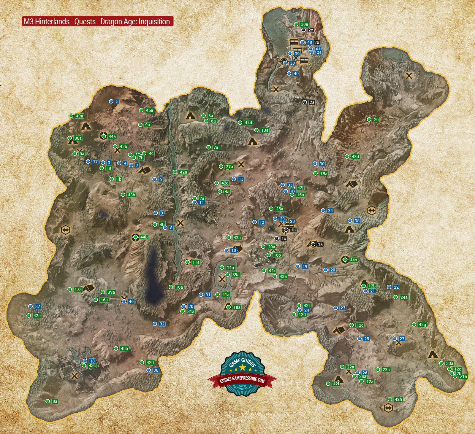 M3 Hinterlands Quests Dragon Age Inquisition Dragon Age Dragon Game Guide