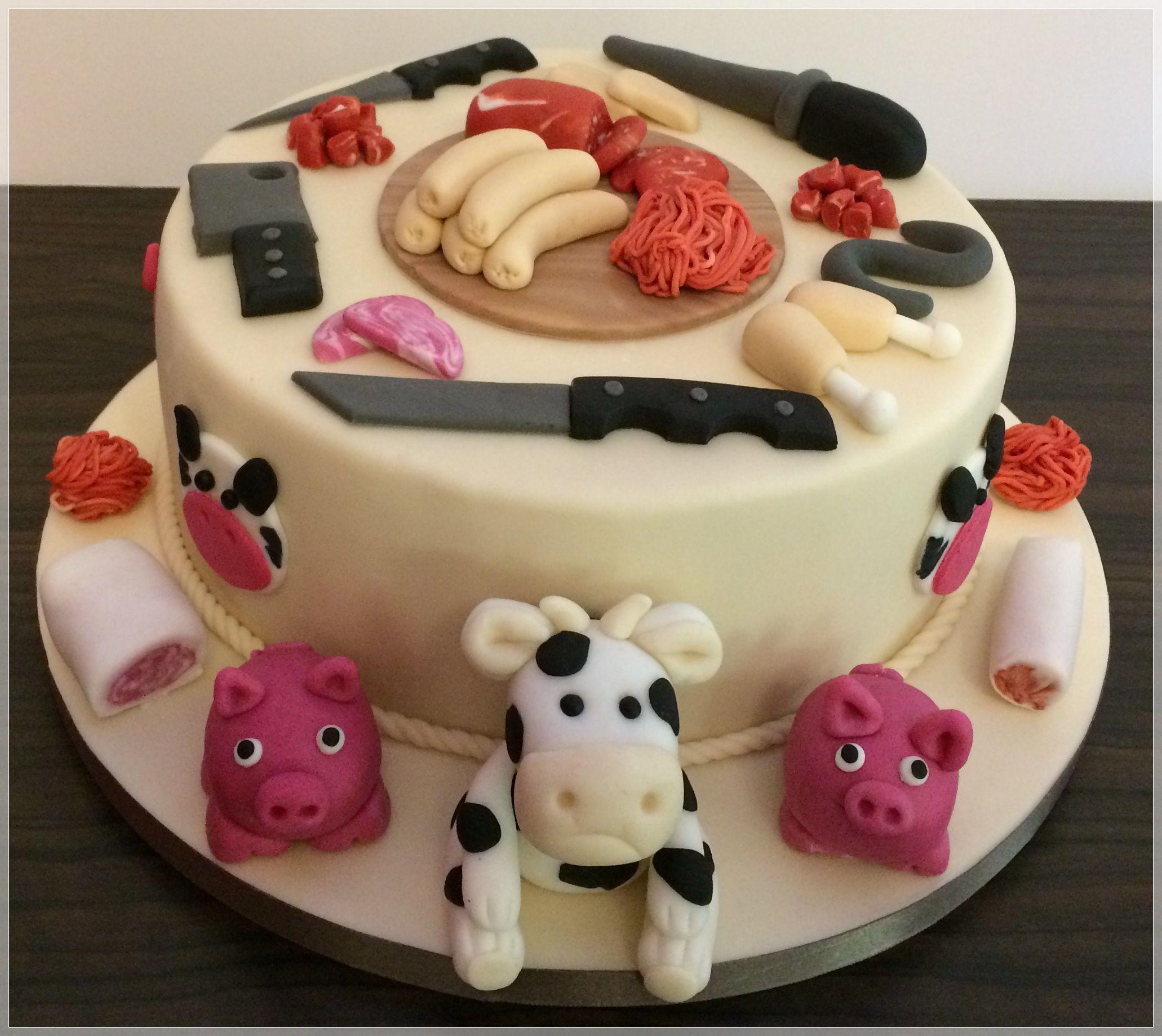 Motivtorte Zum Gesellenabend Der Fleischer Fleischer Kuh