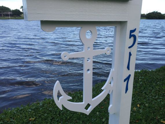 Nice ANCHOR Mailbox Large Decorative Bracket Nautical. Indoor / Outdoor /  Paintable Decor