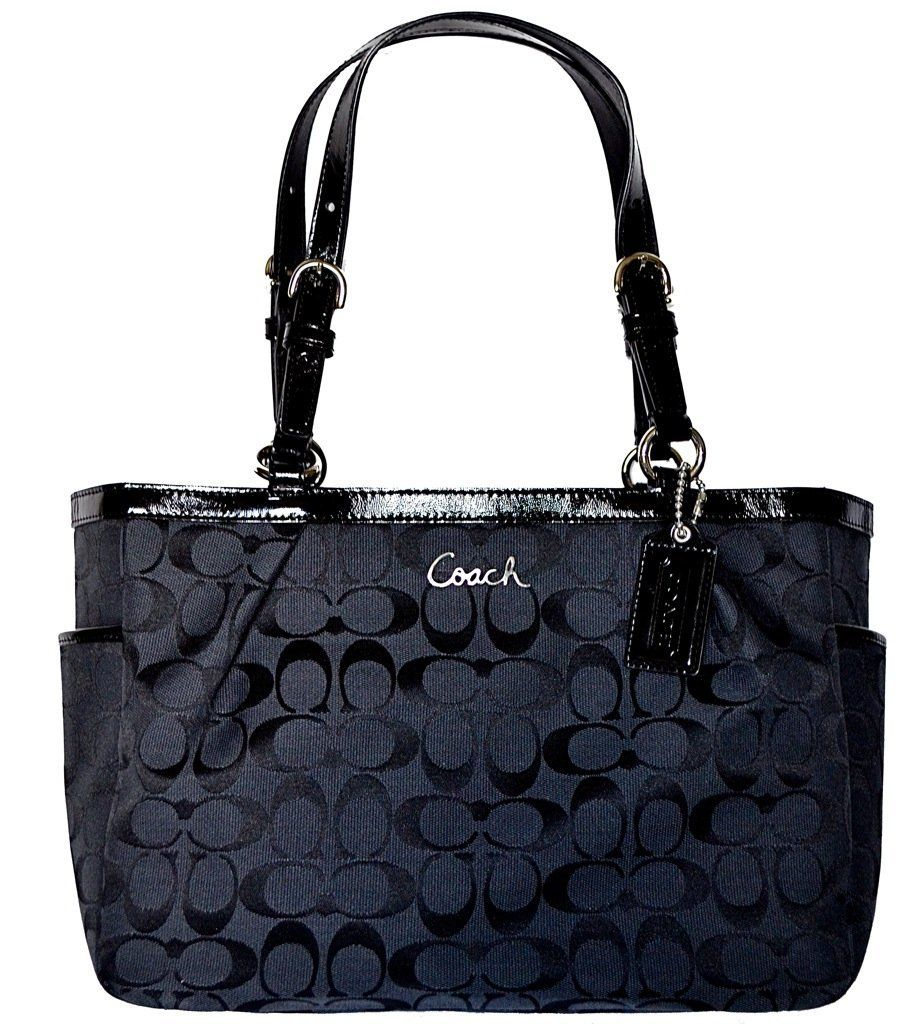 Authentic Coach 12CM Signature Gallery East West Tote Bag 17726 Black http://bit.ly/HdH9IL