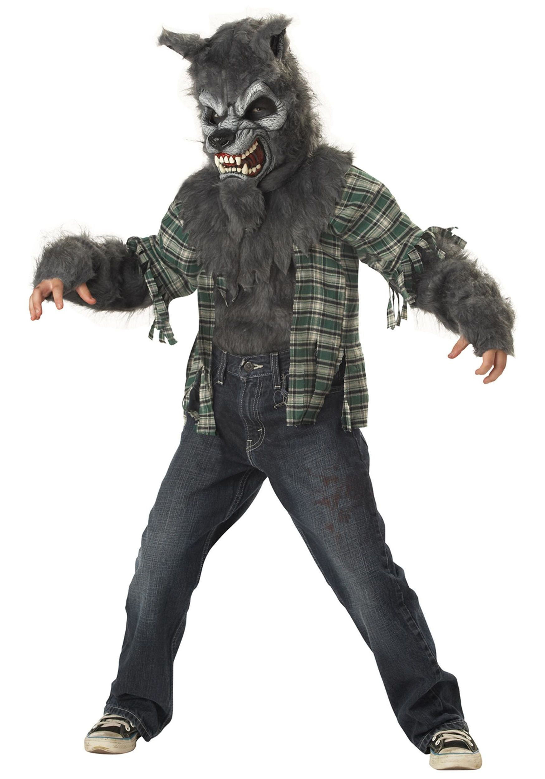 this realistic child werewolf costume is scary but its also quick and easy wear it with jeans or black pants and practice howling - Quick Scary Halloween Costumes