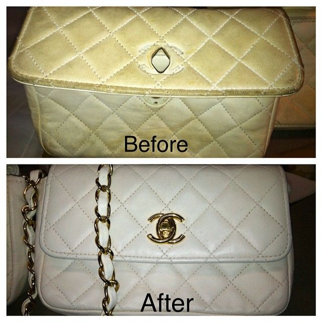 e6cc9f8a21f2 A before and after of a vintage chanel handbag.  leathersurgeons  authentic   handbagrepair  restoration  vintagechanel  chanel  handbag