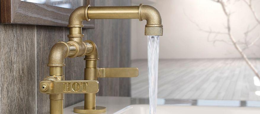 Watermark Elan Vital Elevated Bathroom Faucet These Valves