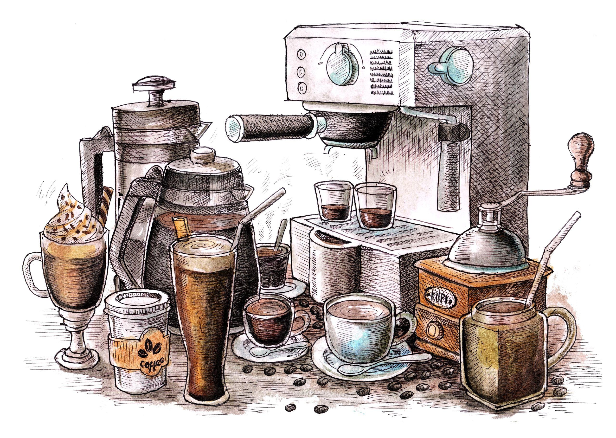 Декупаж в Кургане VK Ilustración de café, Arte del