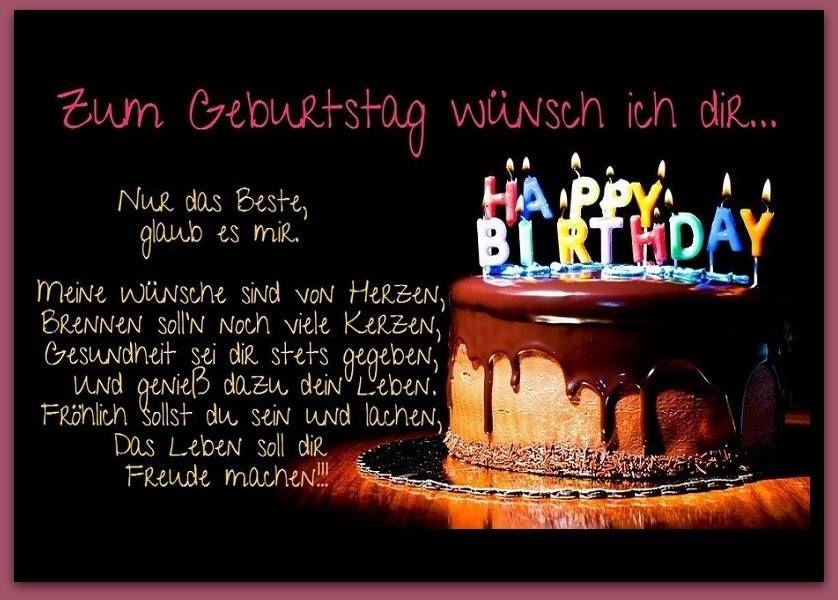 Zum Geburtstag Wunsch Ich Dir Nur Das Beste Glaub Es Mir