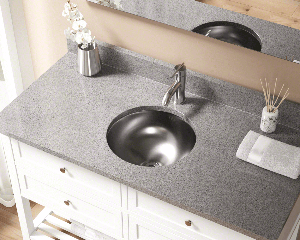 Hand Hammered Stainless Steel Oval Undermount Bathroom Sink With