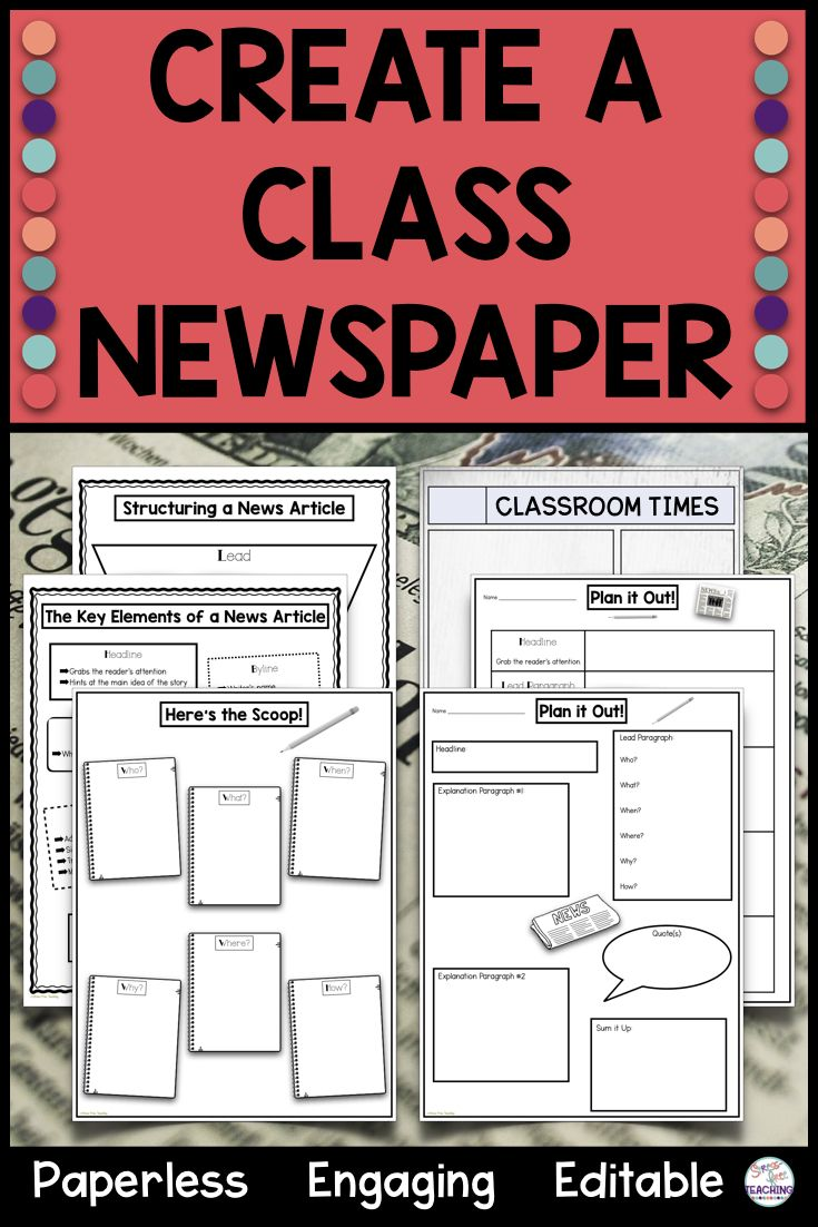 Newspaper Template For Use With Google Apps Google Interactive