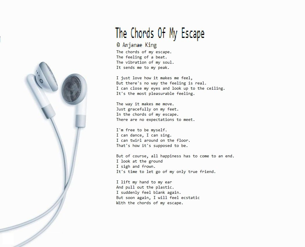 The Chords of My Escape   English poems, Close eyes, Just love