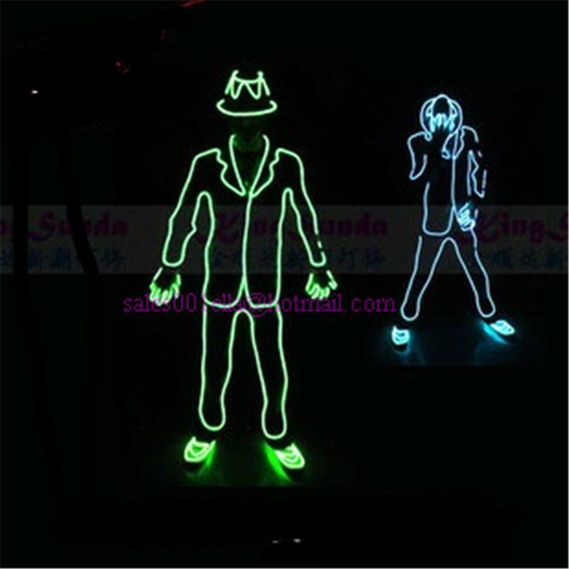 Wholesale-Price-Led-Luminous-Flashing-ELWire-Robot-Suit-Costume ...