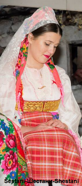 Albanian folk costume from Shestan