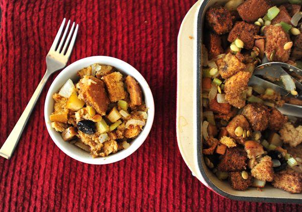 FrankenStuffing: Pear, Tart Cherry, Chicken Apple Sausage Stuffing #athletefood